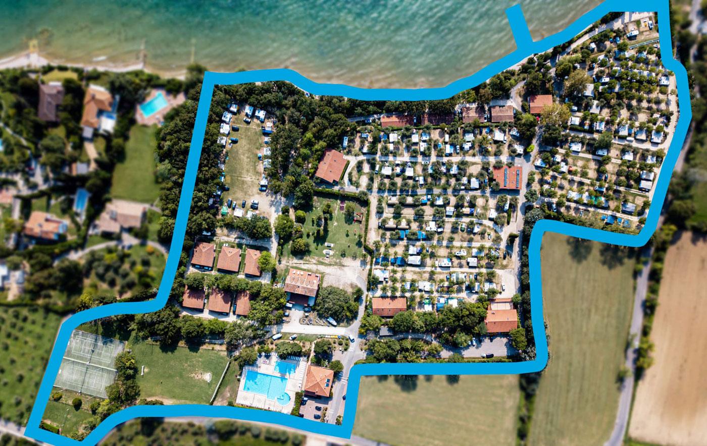 Camping Zocco Lago di Garda - Location
